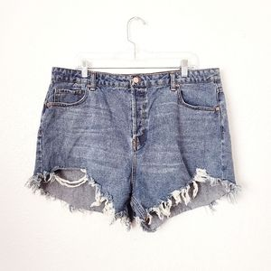Wild Fable 18 High Rise Cut Off Cheeky Jean Shorts